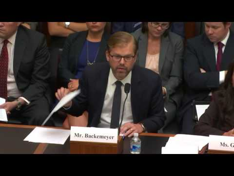 Deputy Assistant Secretary Backemeyer Speaks Before House Financial Services Hearing