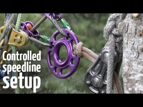 Controlled speedline / slideline | Arborist rigging systems