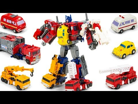 Transformers Bumblebee Ironhide Ratchet Optimus Prime Grapple Inferno Combine(?) Vehicle Robot Toys