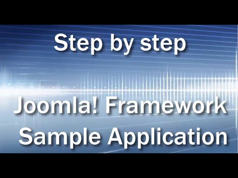 Step By Step: Joomla Framework Sample App Installation