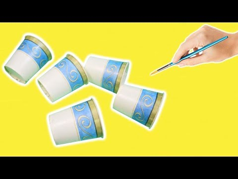 How To Reuse/Recycle Paper Cups?? Best Out of Waste