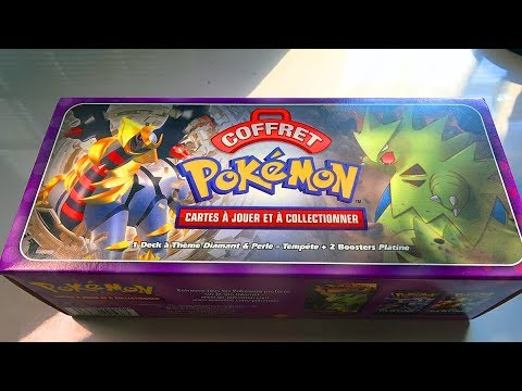 Ouverture d 39 un coffret valise pokemon a 250 euros ultra rare diamant et perle youtube - Pokemon rare diamant ...
