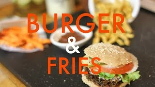 Recipe: How To Make Raw Vegan Burger & French Fries
