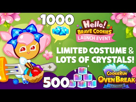 CROB NEW CHERRY BLOSSOM LIMITED COSTUME Hello Brave Cookies X CookieRun Ovenbreak