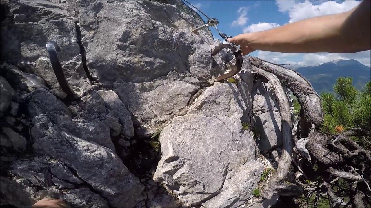 Klettersteig Coburger Hütte : Hoher gang klettersteig nahe ehrwald youtube