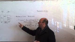 Mechanical Drive Systems: Overview, 23/3/2015