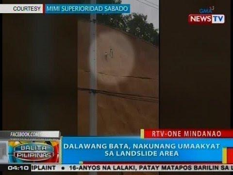 BP: 2 bata, nakunang umaakyat sa landslide area sa Davao City