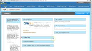 Check & change the email address used in CUNY Blackboard