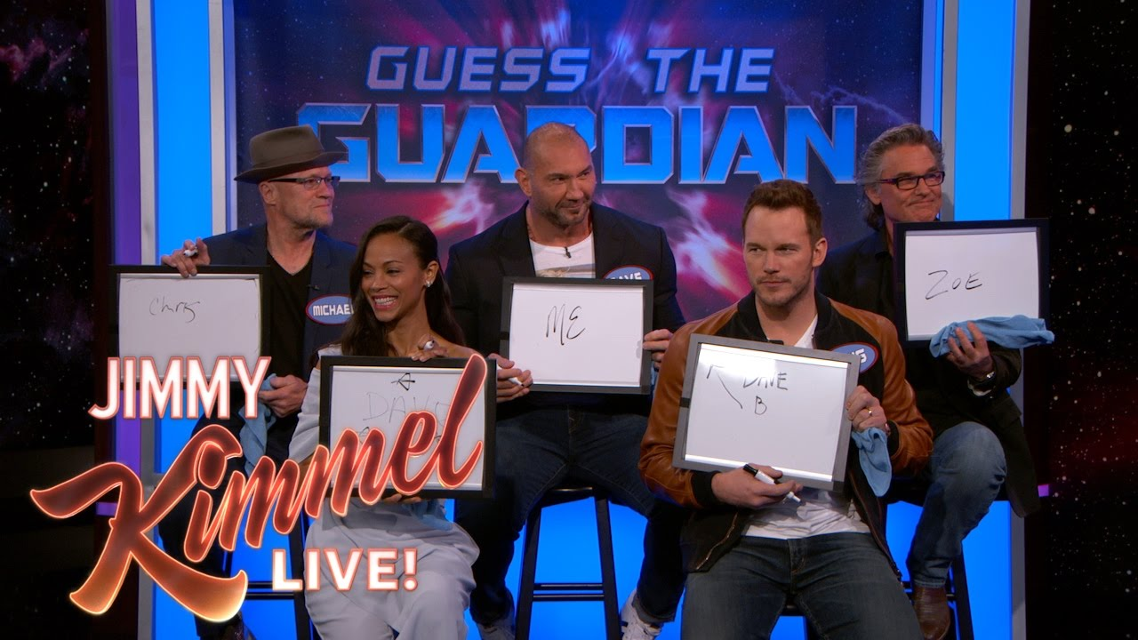 Download The Cast of Guardians of the Galaxy Vol. 2 Plays 'Guess the Guardian'