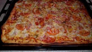 Быстрое тесто для пиццы. Быстрое дрожжевое тесто рецепт