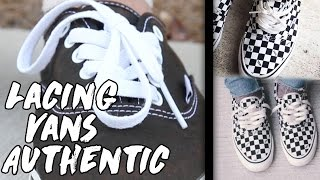 How To Lace Vans Authentic