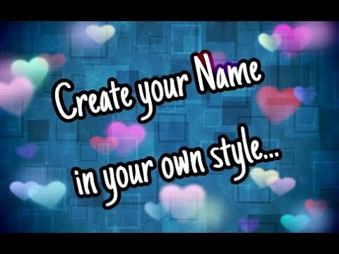 How To Use Name Art App Name Art Create Your Name In