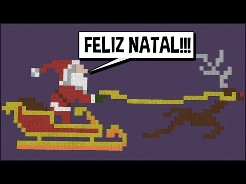 Minecraft: CONSTRUINDO SÓ PIXEL ART DE NATAL! (BUILD BATTLE)