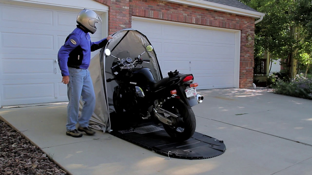 Cycleshell Enclosure Outdoor Motorcycle Cover Protection