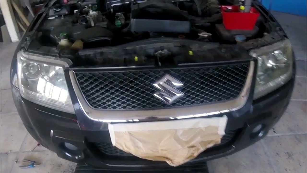 Suzuki Vitara 20052012 Front Bumper Removal Youtube Spotlight Wiring Diagram