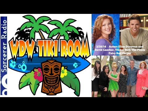 WDW Tiki Room: 3/28/14 – Pirate Fairy Red Carpet, Elisa Donovan and David Lascher