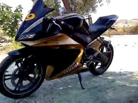 vendo la mia yamaha yzf r 125 black gold hard tuning. Black Bedroom Furniture Sets. Home Design Ideas