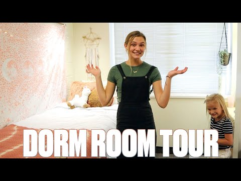MADI'S DORM ROOM TOUR | COLLEGE CAMPUS AND DORM ROOM TOUR 2020 | FRESHMAN DORM
