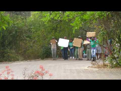 MVI 2435   Demonstratie loonsverhogingen Kruger NP
