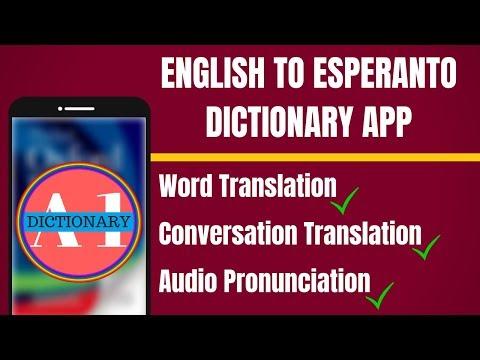 English To Esperanto Dictionary App - English to Esperanto Translation App - 동영상