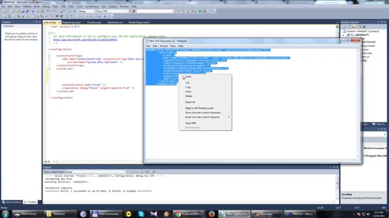 how to create master page in visual studio 2012