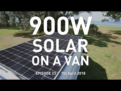900W Solar Panels on a Van Conversion : Eat Sleep Van 23