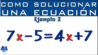 Cómo solucionar una ecuación entera de primer grado | Ejemplo 2 thumbnail