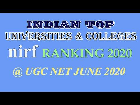 Top Indian Universities | NIRF Ranking 2020 | UGC Net Paper 1 Preparation On Higher Education System