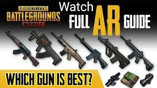 PUBG MOBILE || weapons ranked worst to best || Weapons stats || Weapons power