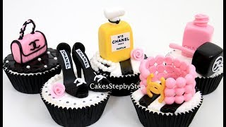 CHANEL Fashion CUPCAKES | How To Make by Cakes StepbyStep