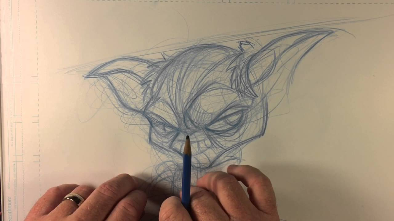 Line Drawing Yoda : How to draw star wars character yoda youtube