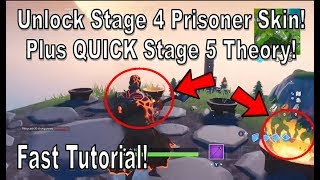 Fortnite - Comment débloquer l'étape 4 Prisoner Skin ET Stage 5 Prisoner Skin Theory! [Le tutoriel le plus rapide!]