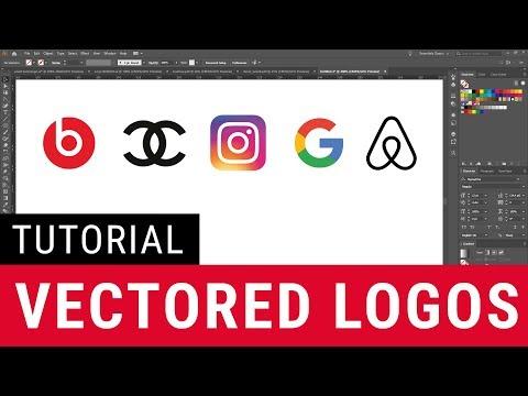 How to create famous logo symbols   Tutorial Illustrator