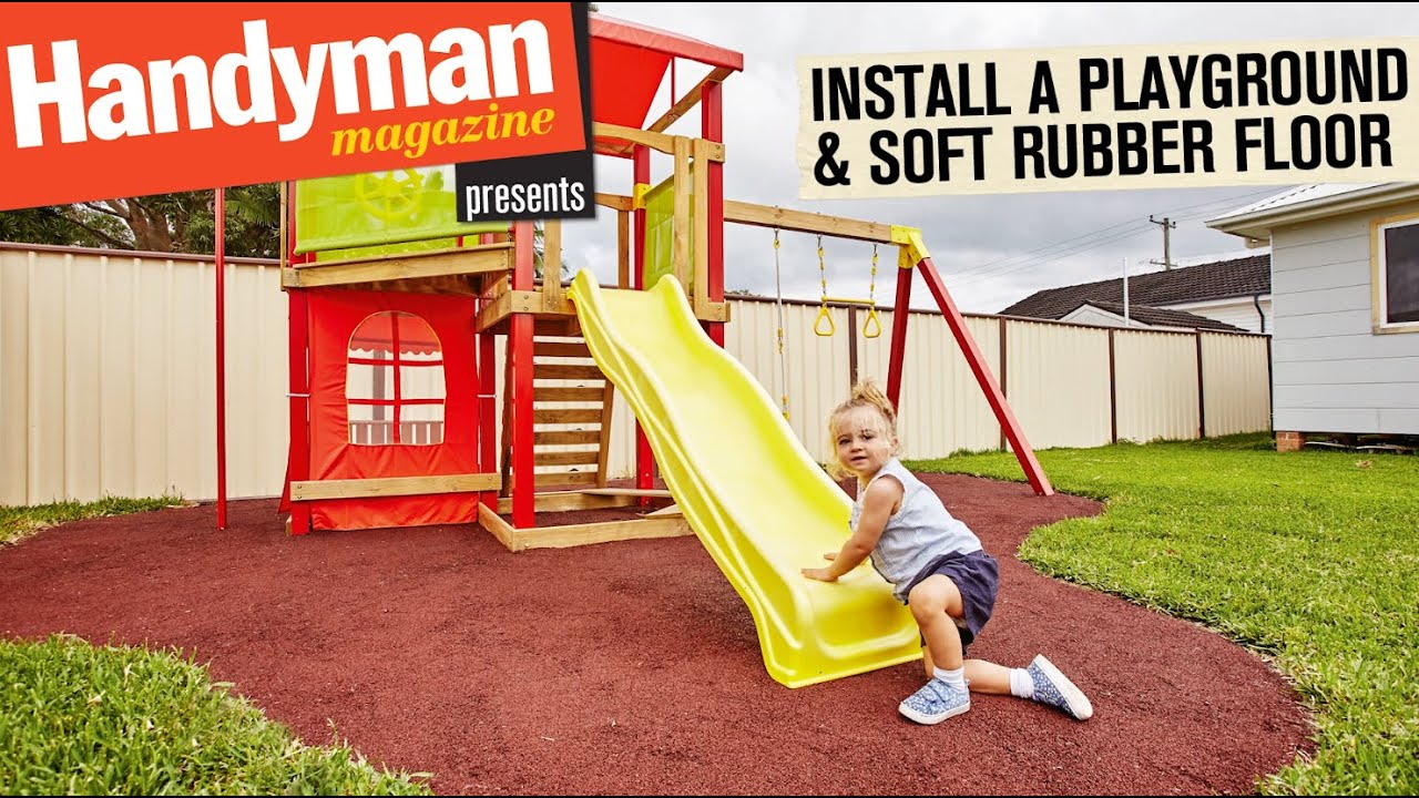 How To Build A Playground Install A Soft Rubber Floor Youtube