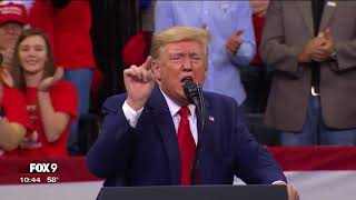 A breakdown of President Donald Trump's speech at Minneapolis campaign rally