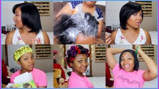 Relaxer Day 2017 Start To Finish + Condition, Roller Set, Style + GIVEAWAY WINNER!