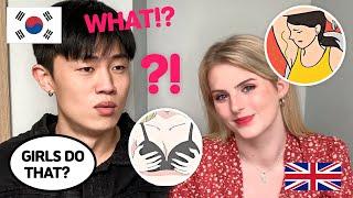 [AMWF]My Korean Boyfriend REACTS TO THINGS GIRLS DO BUT WON'T ADMIT