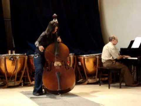 Samar Talaat Plays  Swan On Double Bass.wmv