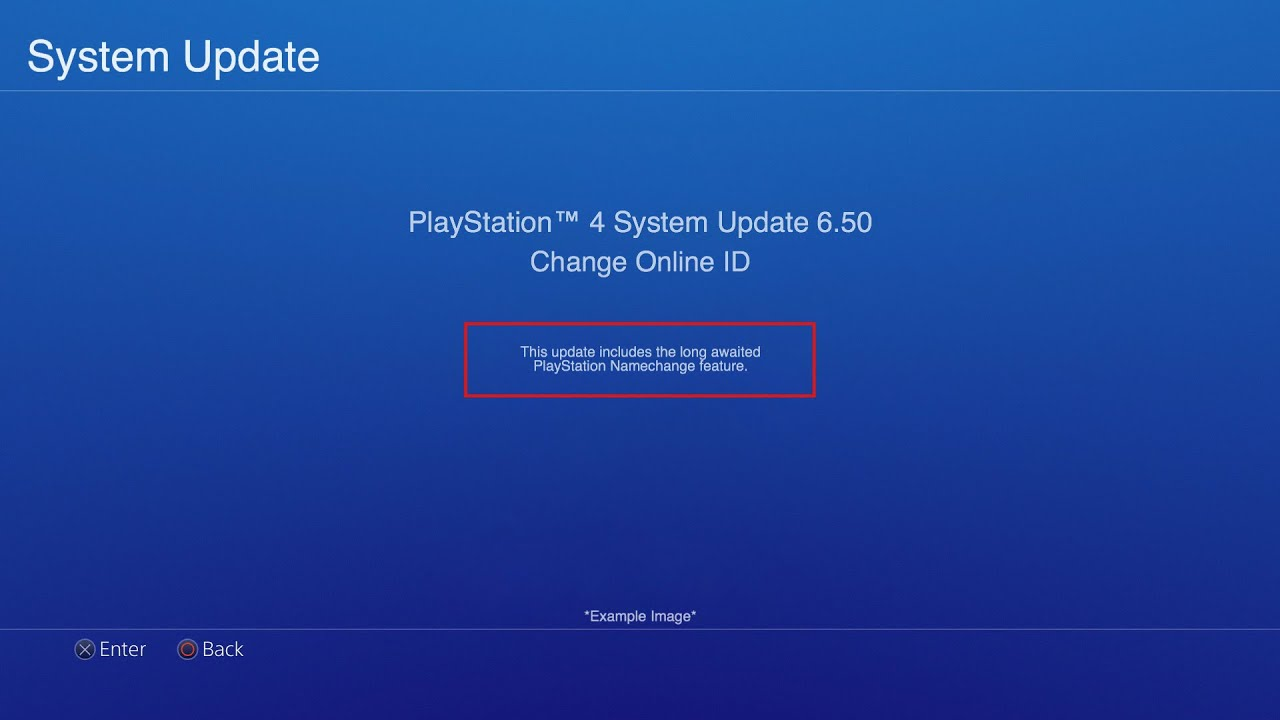 *PSN NAME CHANGE*/CHANGE YOUR PSN GAMERTAG-When could the release date be?(PS4 update 6.50,6.10 ...