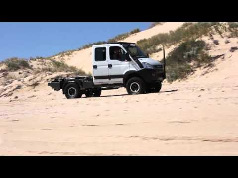 Iveco Daily 4x4 on beach @ Lucky Bay Western Australia