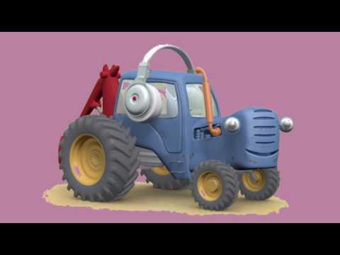 Веселый трактор   футаж