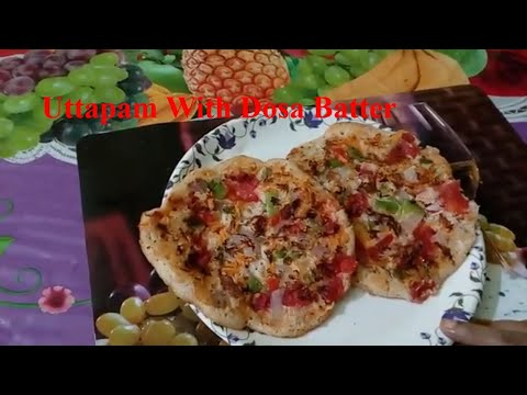 Uttapam Recipe With Dosa Batter In 5 Minutes By Bandana Kitchen...