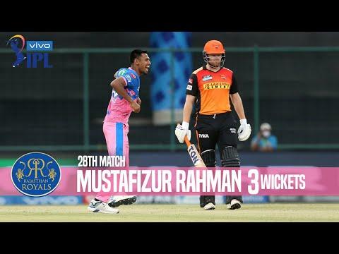 Mustafizur Rahman's 3 Wickets Against Sunrisers Hyderabad | 28th Match | Indian Premier League