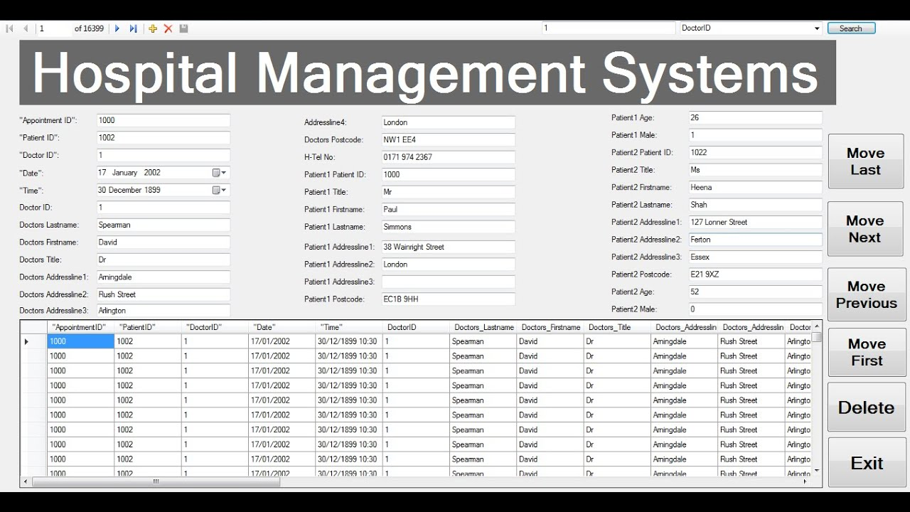 How to Create Hospital Management System with Embedded Database in ...