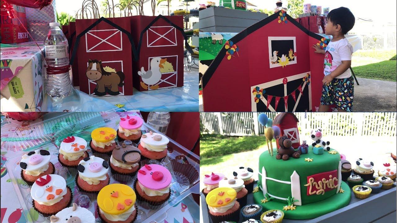 Old MacDonald Farm Themed 2nd Birthday Party