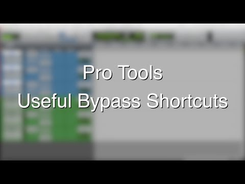 Pro Tools – Useful Bypass Shortcuts