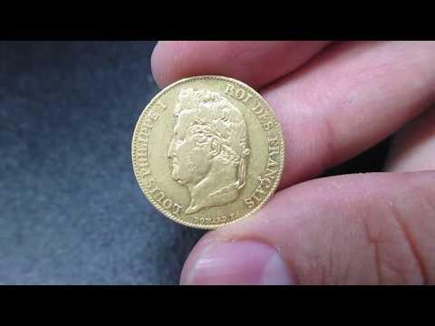 Moneta 20 Lire d'Oro di Luigi Filippo di Francia - Testa Laureata