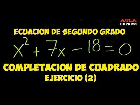 MATEMATICA Completación de Cuadrados ejercicio (2) ECUACIÓN CUADRÁTICA BACHILLERATO AULAEXPRESS