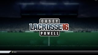 Casey Powell Lacrosse 16 - First Career Match gameplay