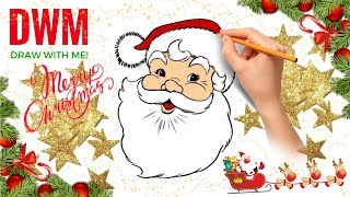 HOW TO DRAW / Come Disegnare.. BABBO NATALE 🎅